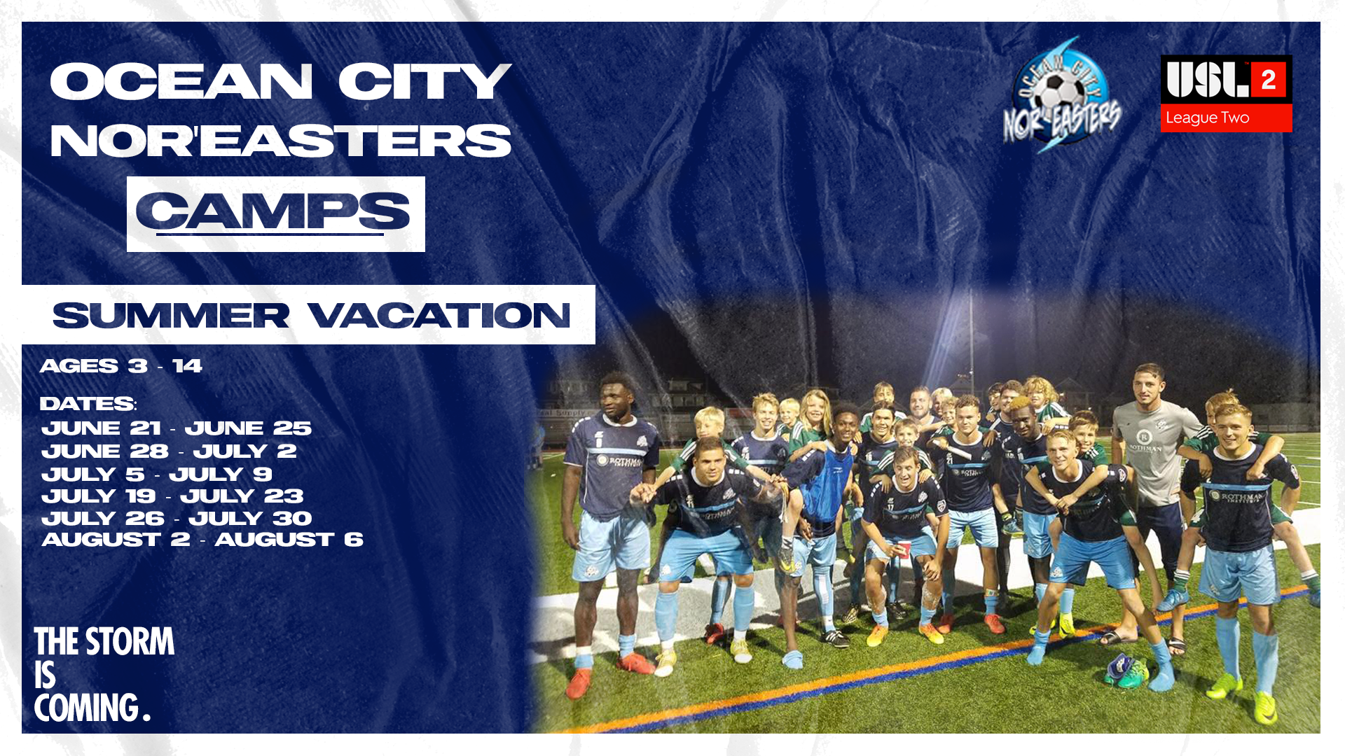 Sign up today! Nor'easters 2021 Summer Vacation Camp registration now open