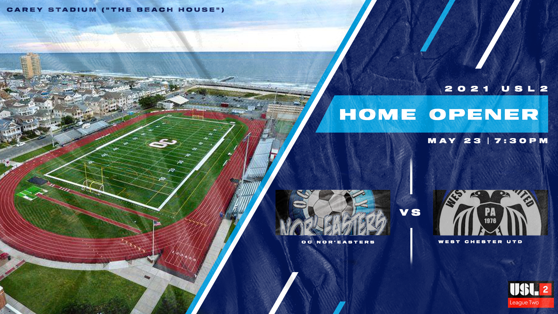 Nor'easters welcome West Chester United to Ocean City for club's 24th home opener