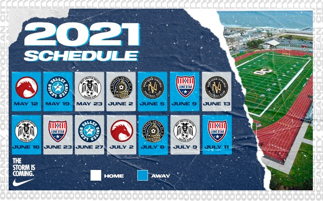 Ocean City Nor'easters announce 2021 USL League Two schedule