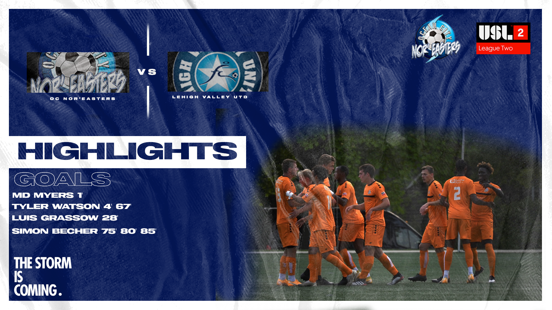 Highlights: Ocean City Nor'easters 7-0 Lehigh Valley United
