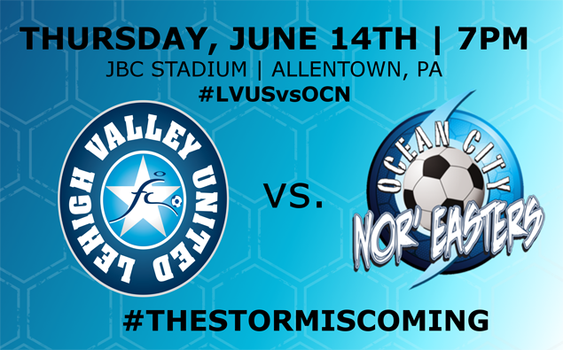 Preview: Nor'easters travel north to take on Lehigh Valley United tonight