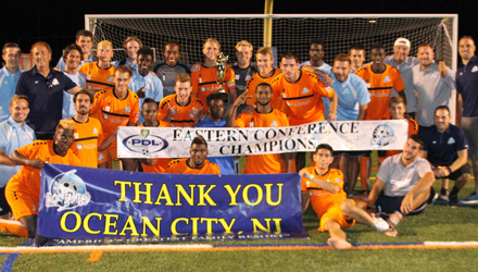 Nor'easters rally in second half to beat Reading United to win Eastern Conference title