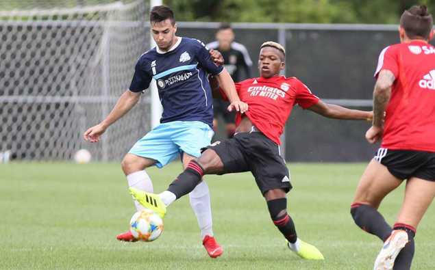 Nor'easters lose, but hold their own, against European power SL Benfica in friendly
